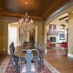 One of a Kind Dining Room Cove Ceiling Design