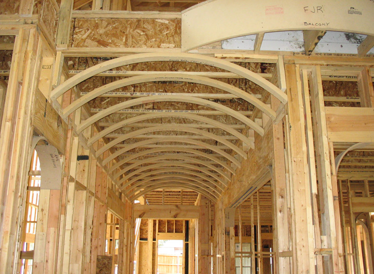 Vaulted ceiling roof trusses home design idea for Barrel roof trusses